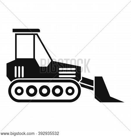 Job Bulldozer Icon. Simple Illustration Of Job Bulldozer Vector Icon For Web Design Isolated On Whit