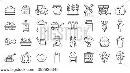 Producer Icons Set. Outline Set Of Producer Vector Icons For Web Design Isolated On White Background