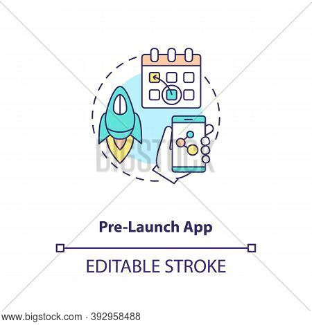 Pre Launch App Concept Icon. App Marketing Tips. Production Before Assigned Date. Demo Version Of Ap