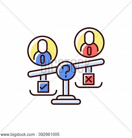 Swing Vote Rgb Color Icon. Election Campaign. Floating Voter. Two Dominant Political Parties. Undeci