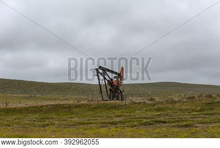 Petroleum Pump, Extraction Pump In An Oil Field, Patagonia, Argentina