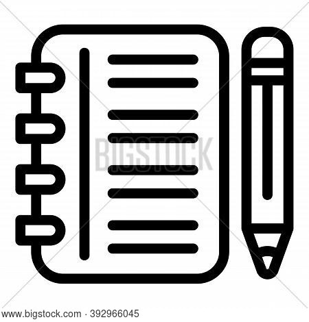 Assignment Tools Icon. Outline Assignment Tools Vector Icon For Web Design Isolated On White Backgro