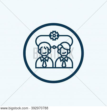 Work Team Icon Isolated On White Background From Startup And Development Collection. Work Team Icon