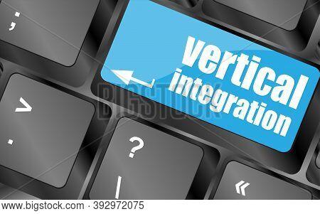 Balck Computer Keyboard With Vertical Integration Words