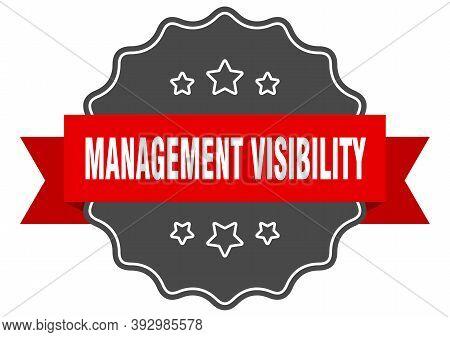 Management Visibility Label. Management Visibility Isolated Seal. Sticker. Sign