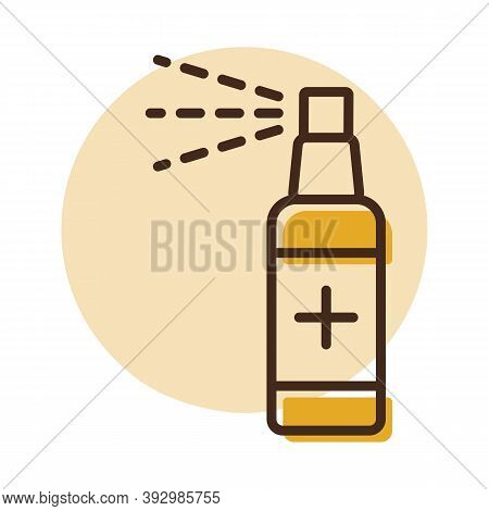 Anti-bacterial Sanitizer Spray, Hand Sanitizer Vector Icon. Coronavirus. Graph Symbol For Medical We