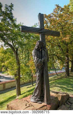 Chelm, Poland, 25 September 2020: Calvary Around The Basilica Of The Blessed Virgin Mary In Chelm, S