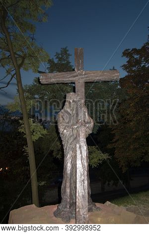 Chelm, Poland, 10 September 2018: Calvary Around The Basilica Of The Blessed Virgin Mary In Chelm, S