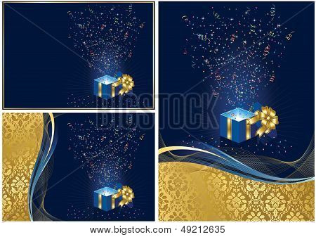 Background with present