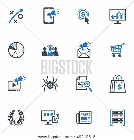 SEO & Internet Marketing Icons Set 3- Blue Series