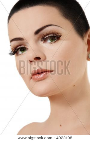 Girl With False Eyelashes