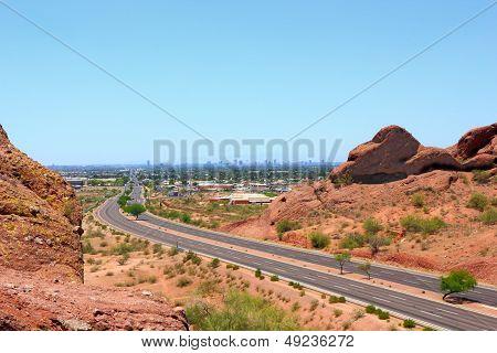 Driving to Phoenix Downtown, AZ
