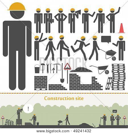Construction vector set (builders & tools)