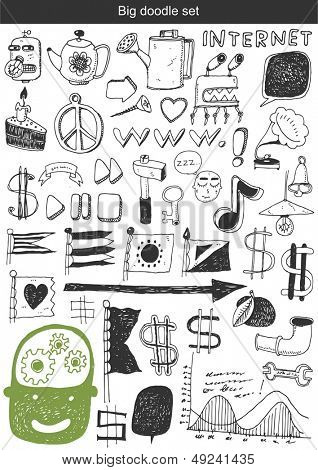 Vector set - Hand drawn elements for your design