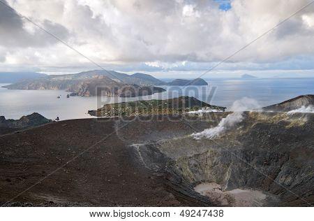 Aeolian Islands Or Lipari Islands Or Lipari Group