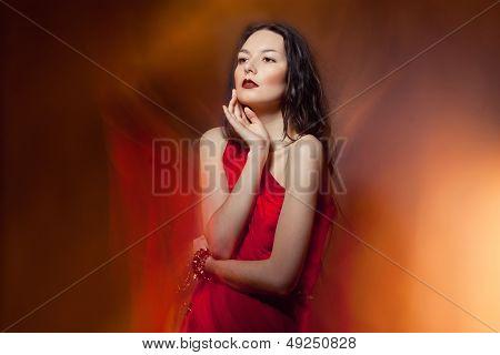 fashion woman on fire