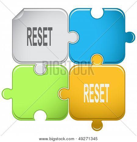 Reset. Raster puzzle.