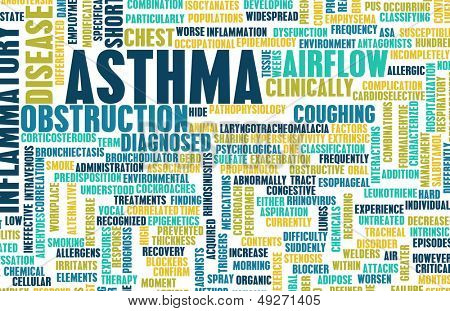 Asthma Respiratory Breathing Problem as a Concept poster