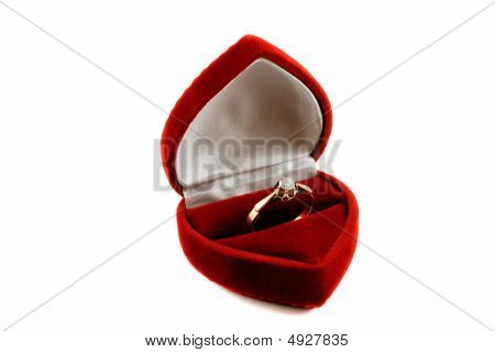 Diamond Ring In Fancy Box