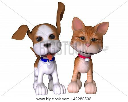 Dog And Cat Toon