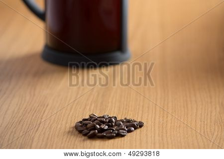 Coffee Beans And Cafitiere