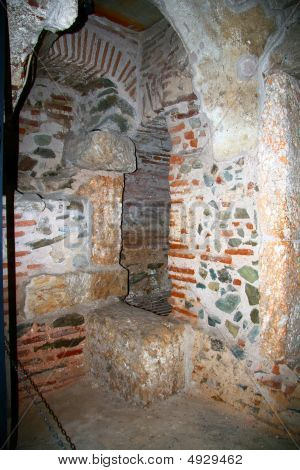 Orthodox Church Catacombs At Thessaloniki City In Greece