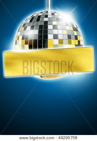 Mirrorball Disco Background