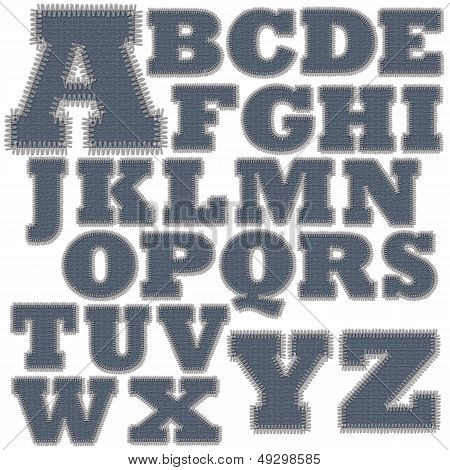 Set of Jean Stitches Alphabet A-Z