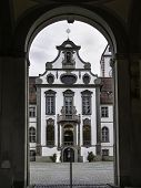 """Image of the entrance portal to the """"Hohes Schloss"""" in Fussen poster"""