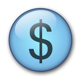 Aqua Dollar Button