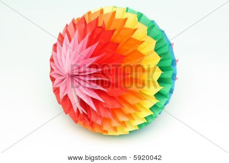 Colour paper sphere