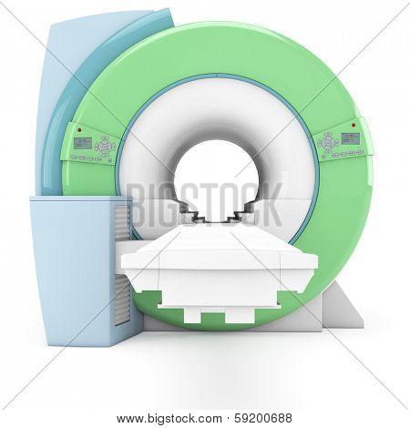 Modern MRI MRT machine in the radiology clinic
