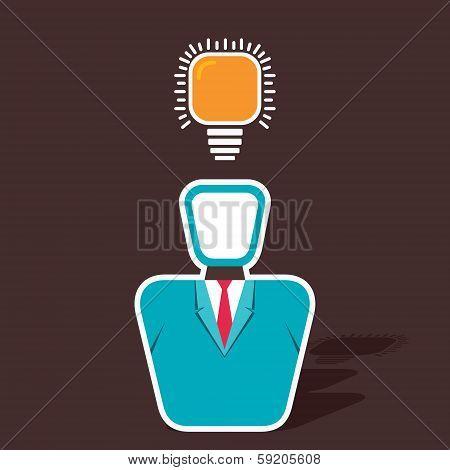businessmen has new idea concept