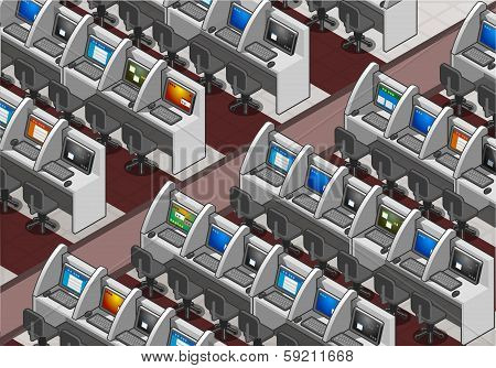 Isometric Call Center Office