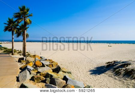 Beautiful beach in San Diego California in summer poster