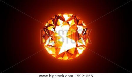 Fiery Jewel - 3D Illustration