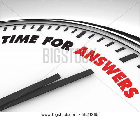Tempo de respostas - relógio