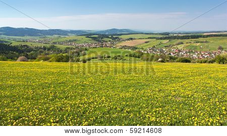 Panoramic View Of Horni Lidec Village - Carpathiam Mountains - Czech Republic