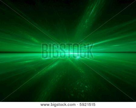 Alien Emerald Ocean - 3D fractal landscape