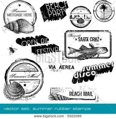 summer rubber stamps