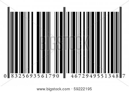Bar Code isolated on white background