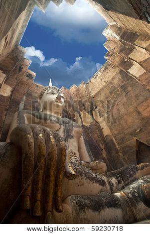 Phra Ajana At Wat Si Chum, Sukhothai