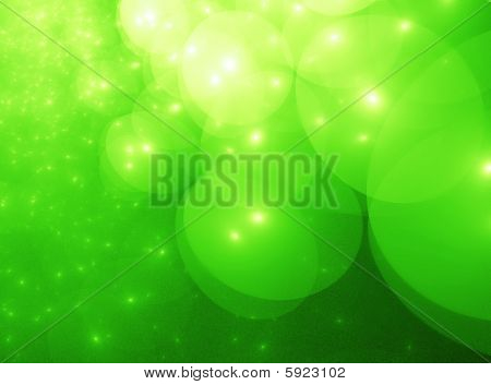 Neon Yellow & Green Star Orb Clouds