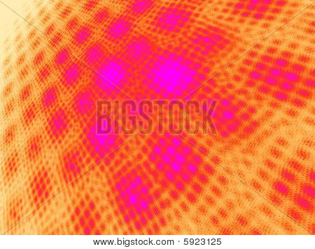 Hot Pink to Orange on White Moire - Perspective