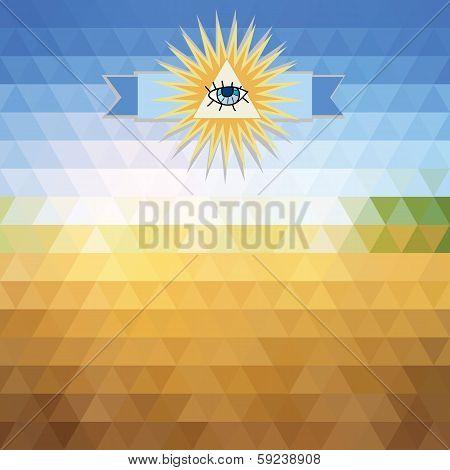 Triangles Sky And Sun
