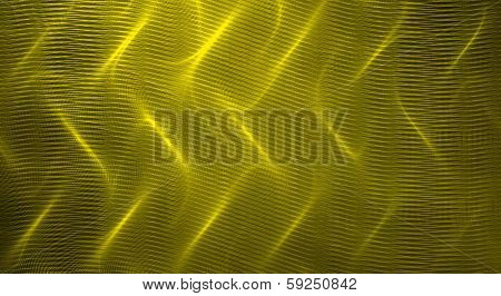Yellow fractal abstract background