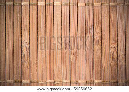 Bamboo pad background , natural bamboo mat poster
