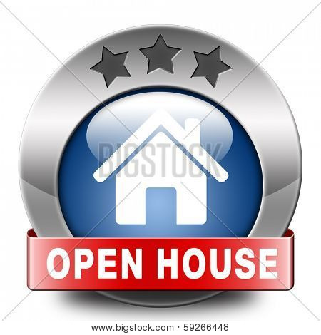 Open house selling or buying real estate property visit model house before you buy or rent