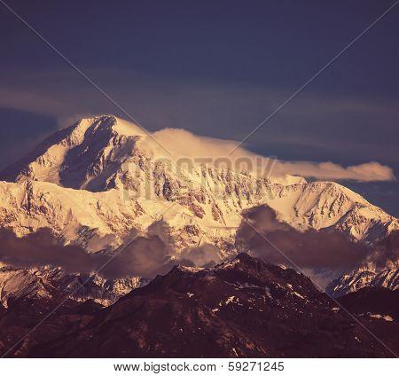 McKinley peak on Alaska poster