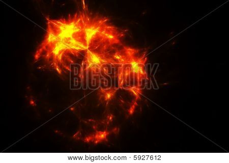 Dying Sun Fractal Illustration